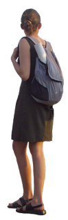 Imagen de chica con mochila