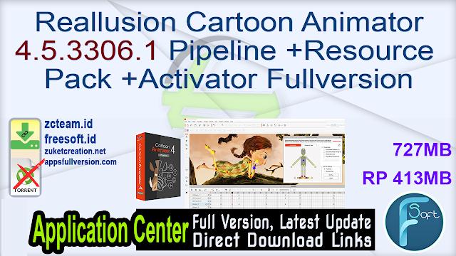 Reallusion Cartoon Animator 4.5.3306.1 Pipeline +Resource  Pack +Activator Fullversion