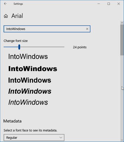 كيفية معاينة وتثبيت وإلغاء تثبيت الخطوط في ويندوز 10