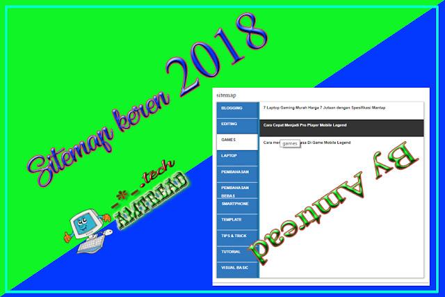 Halaman Sitemap Blogger Keren