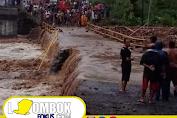 Hujan Deras, Jembatan Penghubung Mataram dan Lombok Utara Terputus.