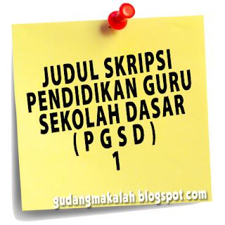 judul skripsi jurusan pgsd (1)