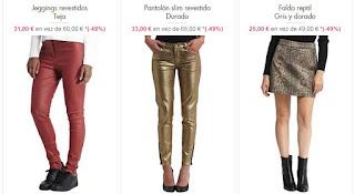 pantalones y faldas en oferta