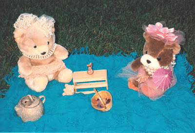 namc montessori encourages toddler independent play tea party teddy bears