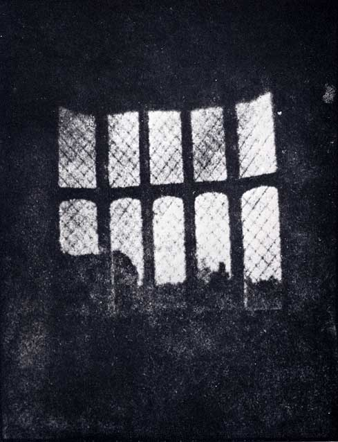 Window in the South Gallery of Lacock Abbey made from the oldest photographic negative in existence, August  1835