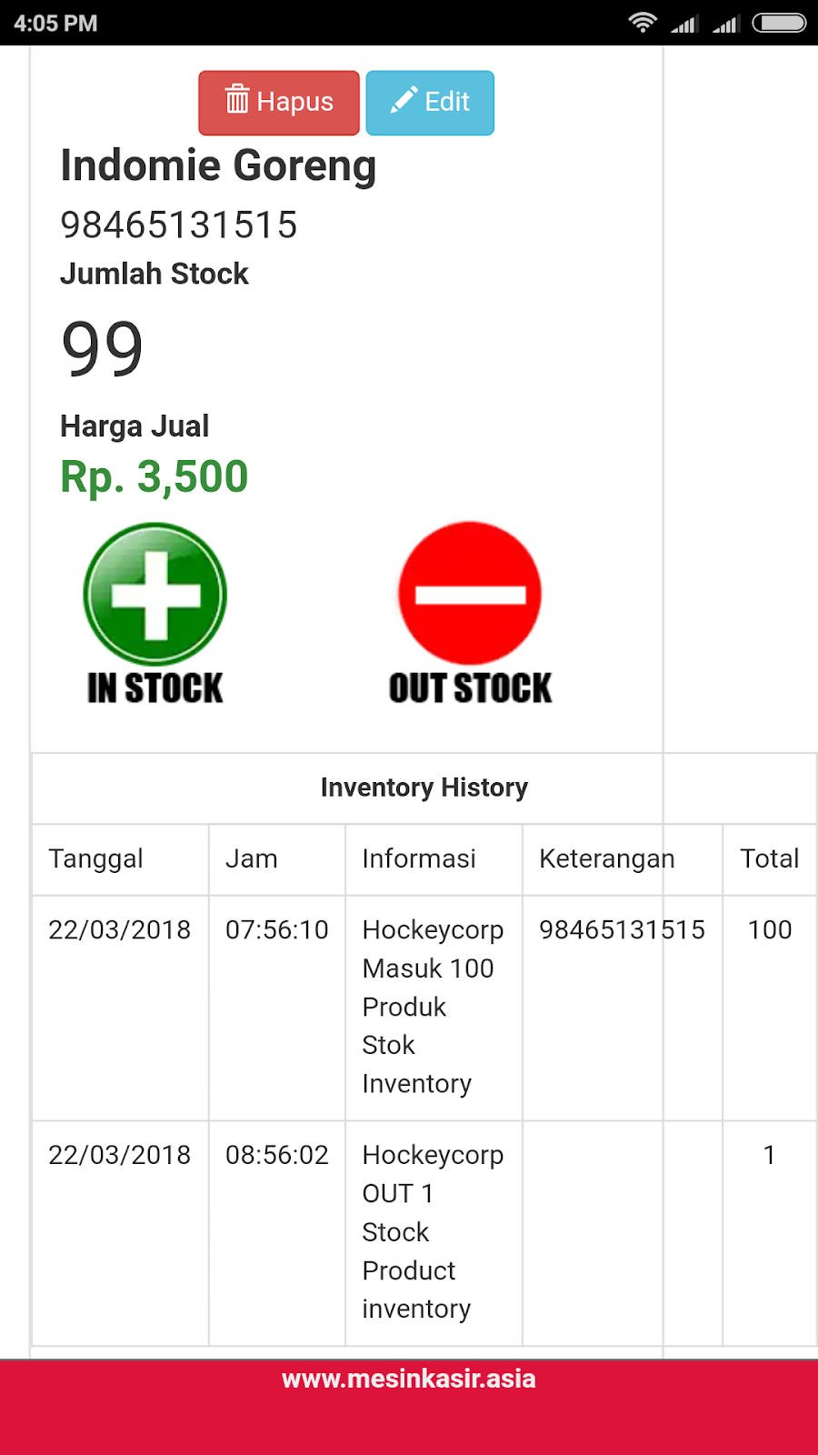 inventory, stok, warehouse, gudang, in, out, transaksi, barcode, online, mobile, android, windows, ios, management