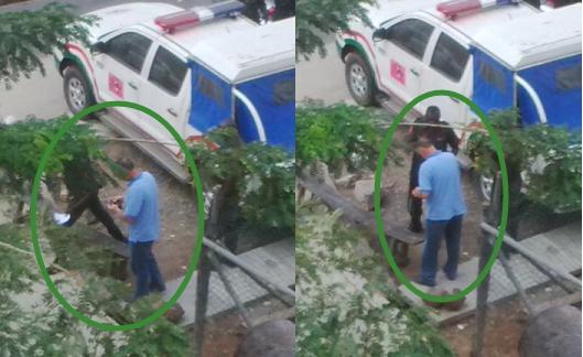 nigerian policemen bribe foreigner