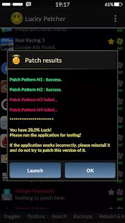 Android or patching ke final result
