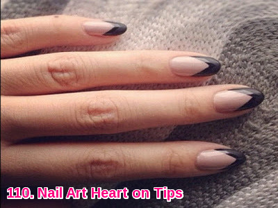 Nail Art Heart on Tips