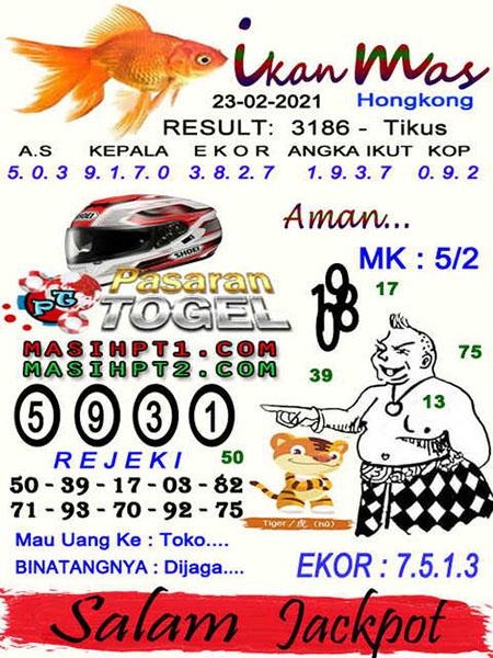 Syair Ikan Mas Hongkong Selasa 23 Februari 2021