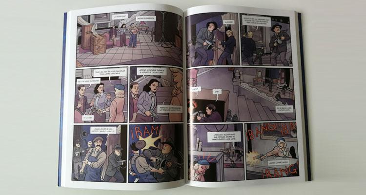 Páginas interiores de Objetivo Hedy Lamarr, de Vilbor, Muñoz y Pajares