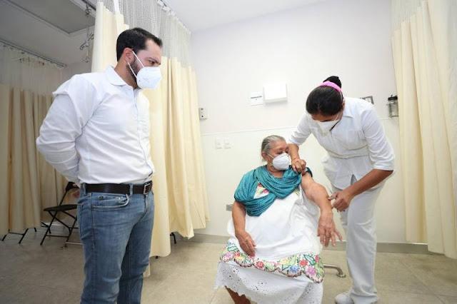 Avanza en 7% aplicación de vacunas contra COVID-19 en Yucatán