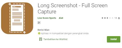 Cara Screenshot Panjang Satu Halaman Penuh DI Android Paling Mudah