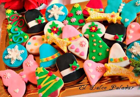 Galletas De Navidad Decoradas En Fondant El Dulce Paladar