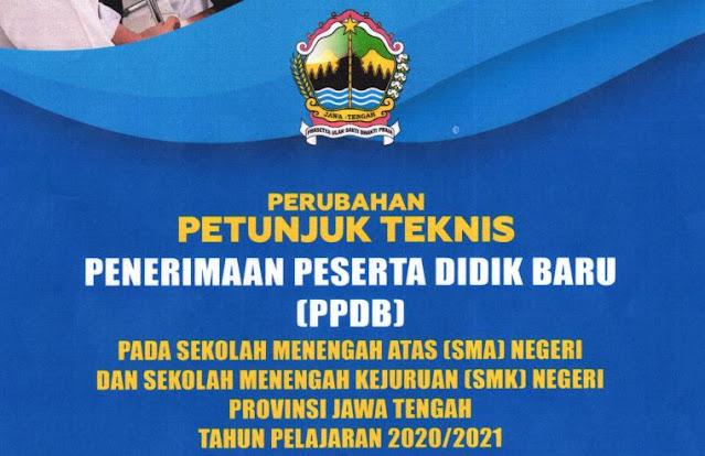 Download Perubahan Revisi Juknis PPDB Online SMA/SMK Jateng Versi 16 Juni 2020