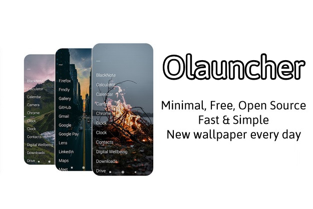 Olauncher android launcher free fast open source minimal