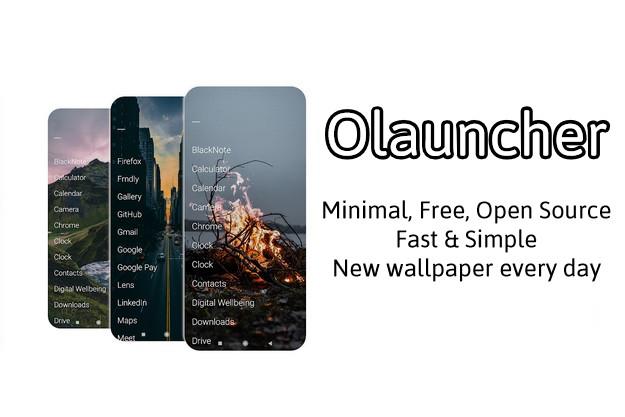 Olauncher - Νέος δωρεάν ανοικτού κώδικα μινιμαλιστικός launcher για Android κινητά
