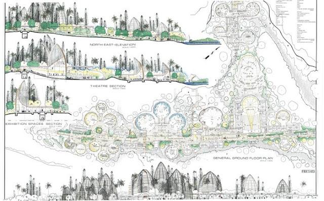 Architettura Contemporanea Renzo Piano Centro Culturale Jean Marie Tjibau Oceanea i grandi maestri dell'architettura disegno