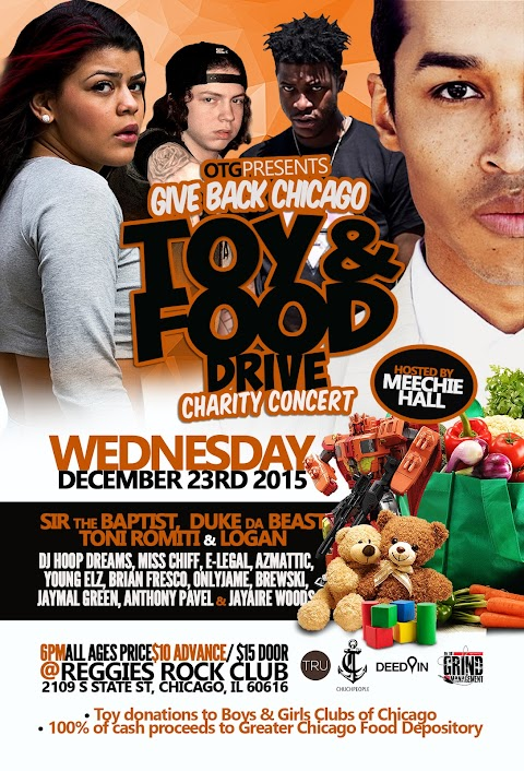 UPCOMING SHOW: 3rd Annual OTG Toy & Food Drive Charity Concert ft. Sir the Baptist, Logan, Toni Romiti & more