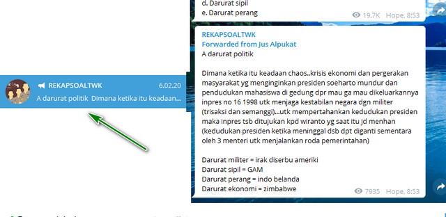 Memilih Channel Dan Grup Di Telegram