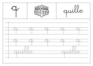 Apprendre a écrire alphabet Français A imprimer