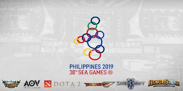 game, Mobile legend, Arena of Valor, Tekken 7, Dota 2, Starcraft 2, Heartstone, Esport SEA Games 2019,
