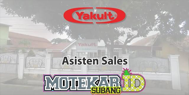 Lowongan Kerja Asisten Sales Yakult Subang 2019