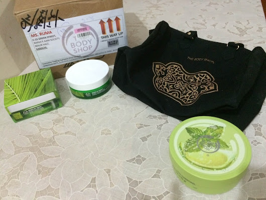 Virgin mojito Body butter and Drops of youth Bouncy sleeping mask from Body shop review  ~ Rumah's Makeup Delight