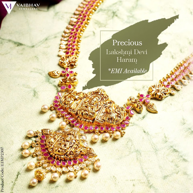 Vaibhav Jewellers Antique Haram Colletion