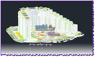 download-autocad-cad-dwg-file-tourist-resort-with-hotel
