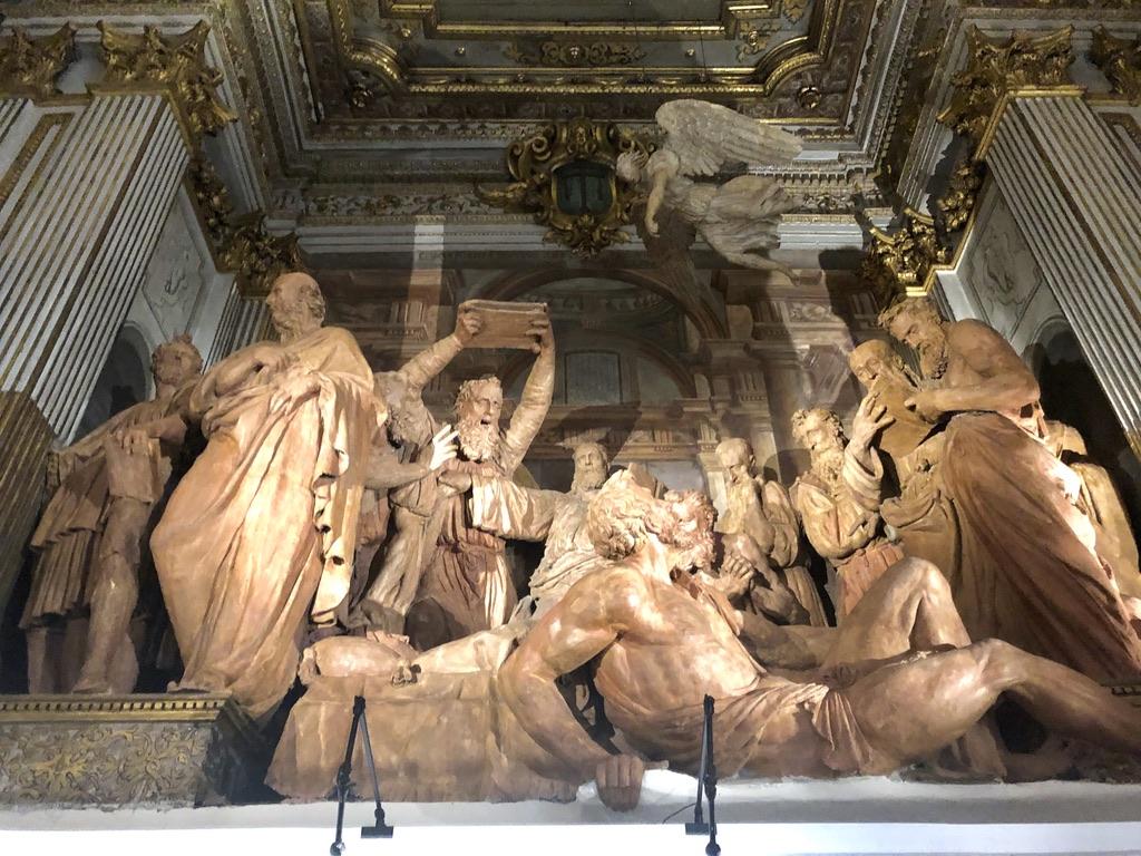 Muerte de la Virgen en el oratorio