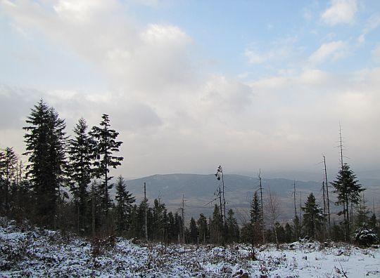 Widok na północ na Szczebel.