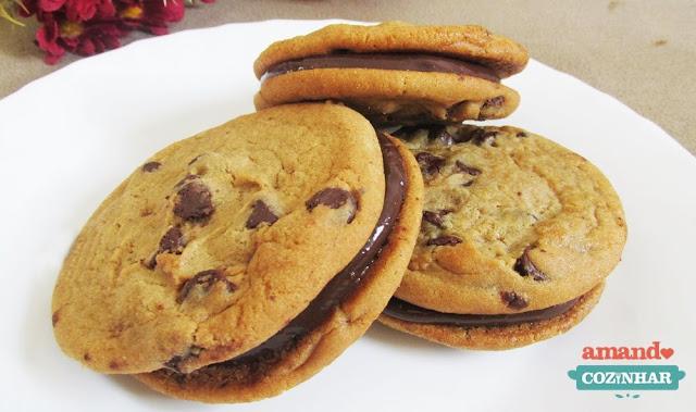Receita Sanduíche de cookies com brigadeiro