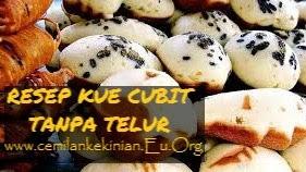 RESEP KUE CUBIT TANPA TELUR