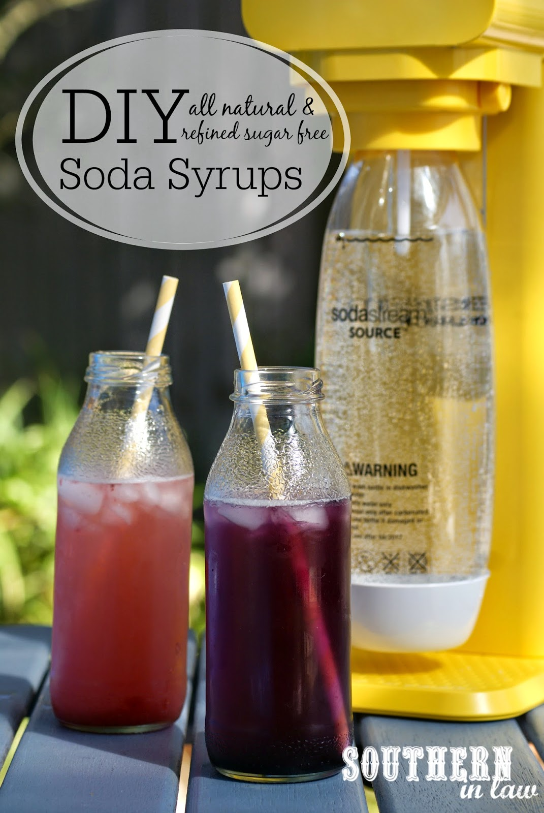 DIY Healthy Soda Syrup Recipe - low fat, gluten free, sugar free, all natural