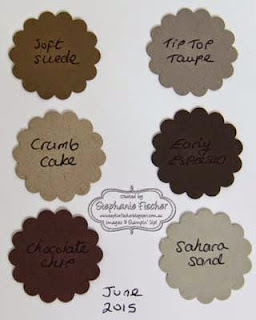 Stampin' Up! new in-colours 2015-17 Tip Top Taupe, comparison