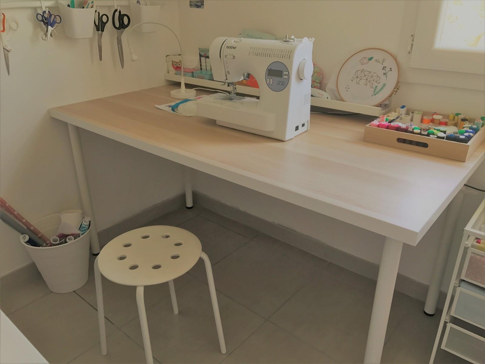 mon atelier couture avec des meubles ikea