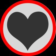 heart button outline
