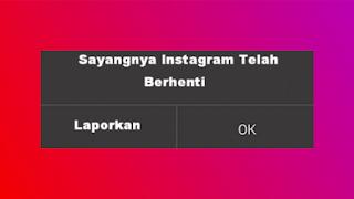 Cara mengatasi Instagram yang berhenti