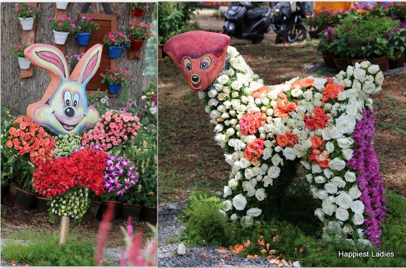 Dasara Flower Show 2016 - cartoon characters
