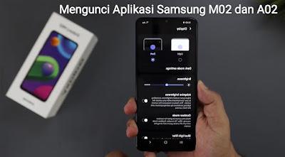 mengunci aplikasi samsung galaxy m02 a02