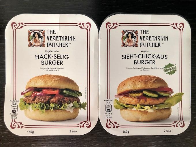 Burgerkrieg (9) The Vegetarian Butcher Hack-selig Burger und Sieht-Chick-aus Burger