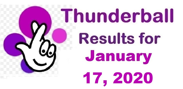 Thunderball Results for Friday, January 17, 2020