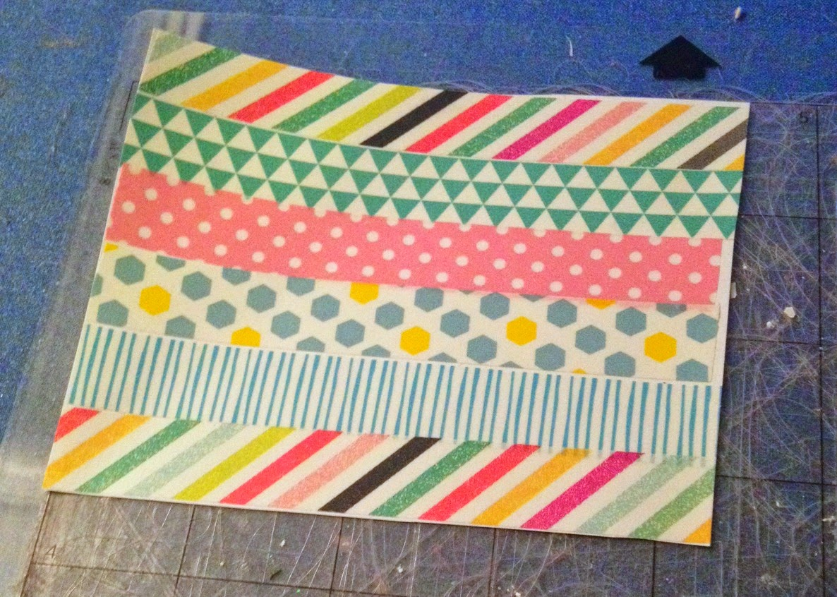 Cutting, washi tape, Silhouette, cutting mat