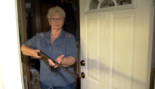 78-year old Grandma apprehends intruder, holds him at gunpoint until police arrived