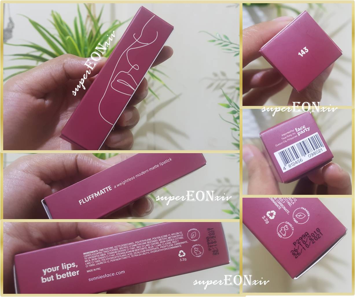 superEONxiv: Sunnies Face Fluffmatte Best Lip Ever in 143 Review