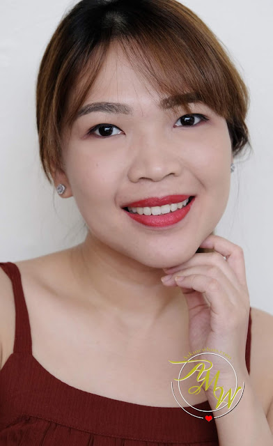 a photo of Benefit They're Real Red On Sexy Matte Lip Color review by Nikki Tiu of www.askmewhats.com