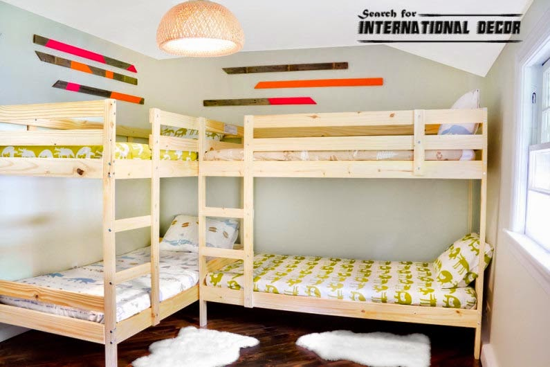 Design small child 39 s room and how to save space interior - Space saving bunk beds for small rooms ...