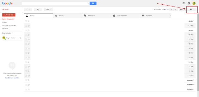 Yeni gmail arayüzüne geçiş