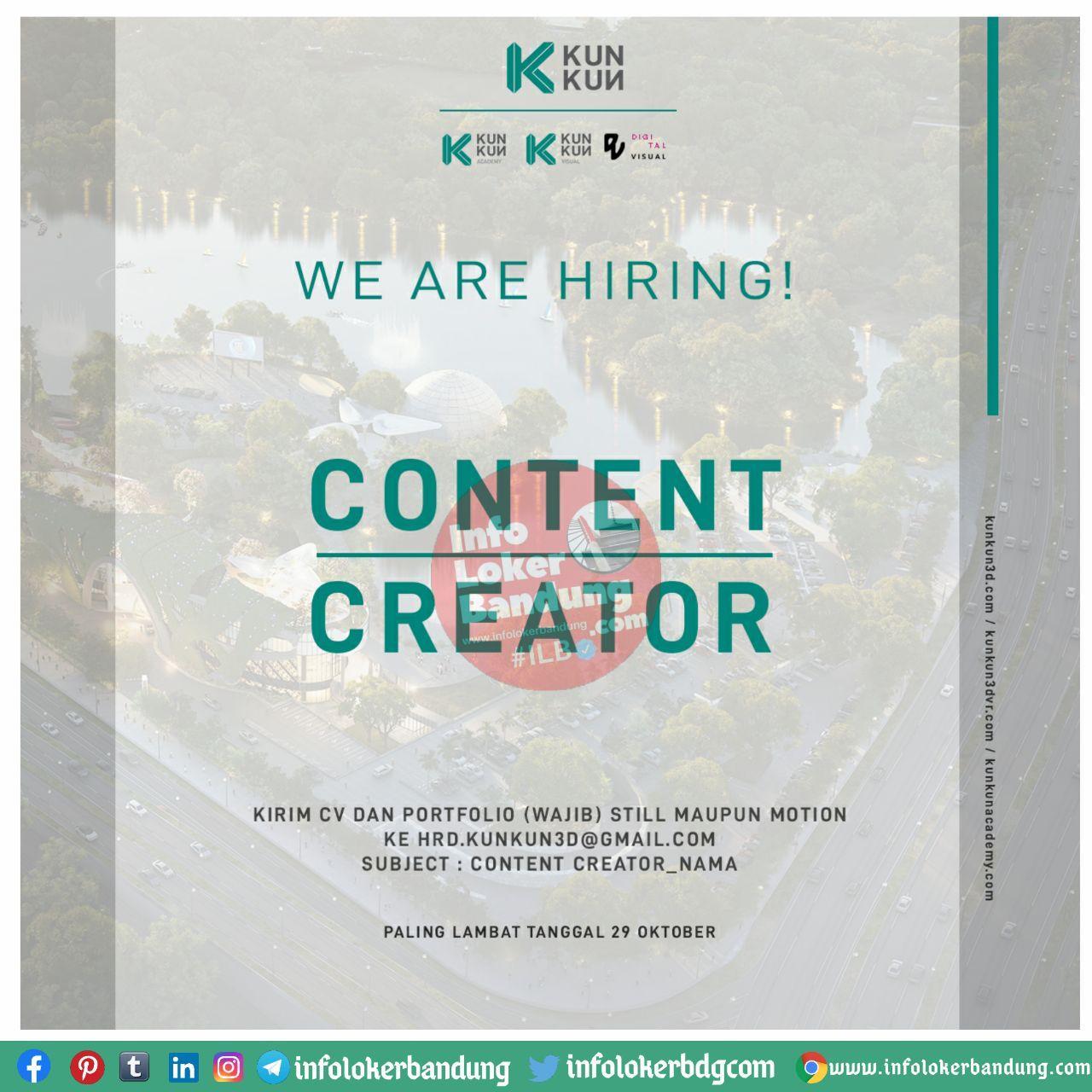 Lowongan Kerja Kunkun Visual Bandung Oktober 2020